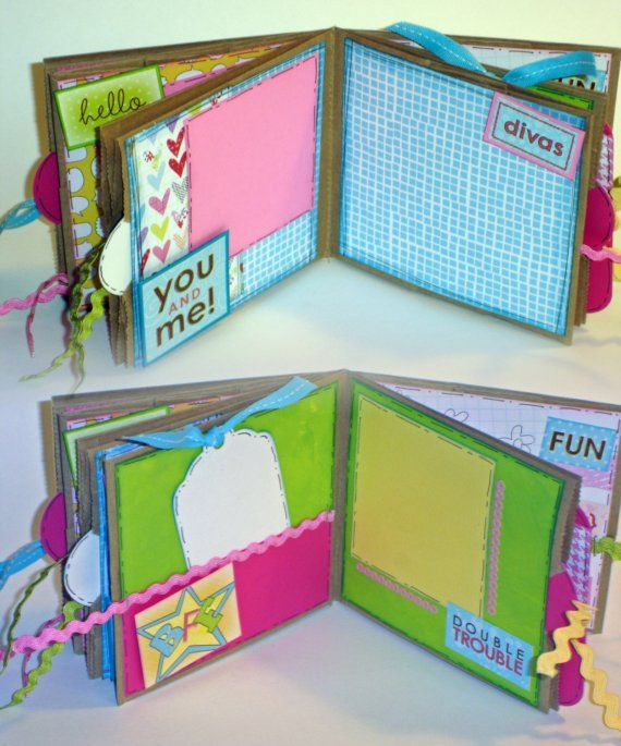 Twins and Best Friends Paper Bag Scrapbook by apicketfencelife