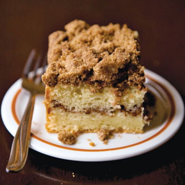 Ground cinnamon gives the topping for this coffee cake its signature zing; the cake itself gets an extra boost of flavor from cinnamon extract.