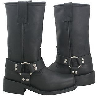 <b>Xelement 2442 'Classic' Women's Black Full Grain Leather Harness Motorcycle Boots</b><br><br>Ladies top quality full grain leather is used the most technologically advanced Motorcycle Biker boot ever. A Great classic look of 10 inch harness biker boot. Good Year Welt Construction boots (long term durability, resole-able, better comfort when wore in). This is the most technologically advanced ladies biker boot built for long-term durability, comfort and protection. Only Found here at the…
