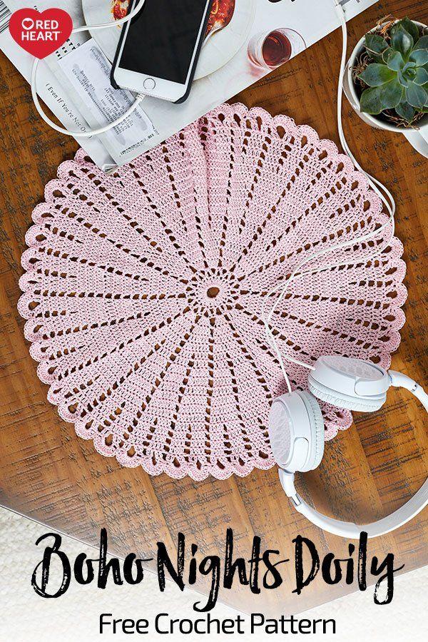 Boho Nights Doily Free Crochet Pattern In Aunt Lydias Classic