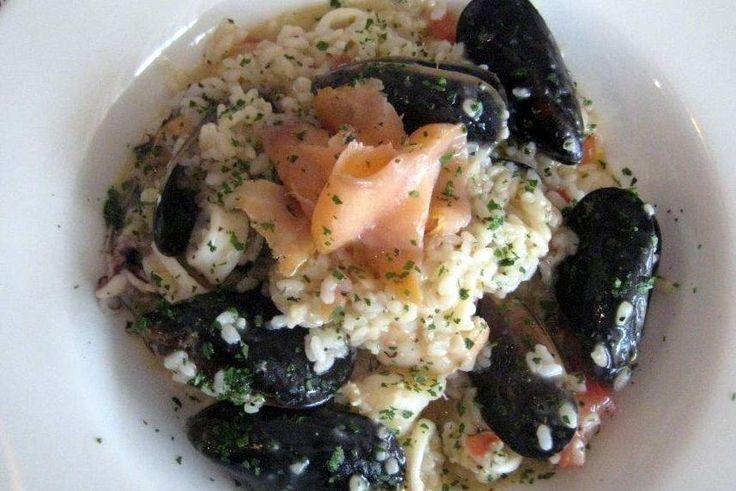 Main Menu;  A favourite - Seafood Risotto