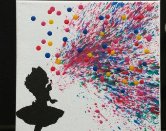Melted Crayon Art  Elephant Blowing Water