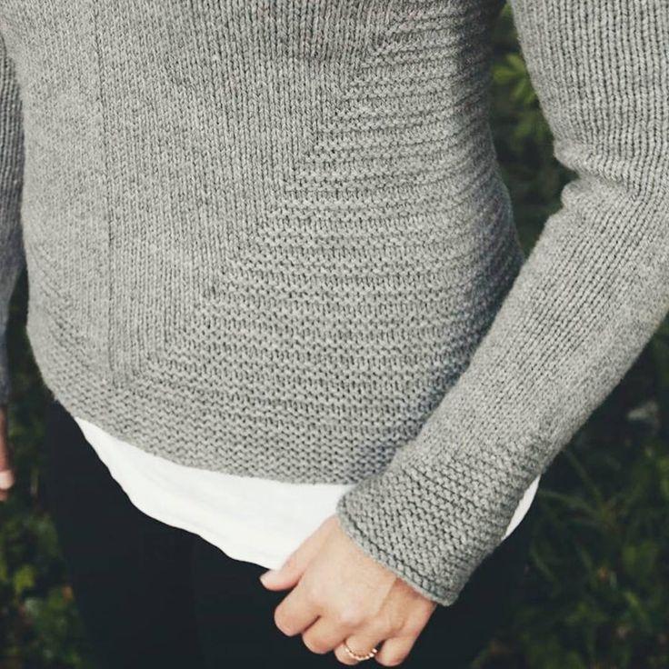 «Loving the details of @dreareneeknits' White Pine sweater, knit in Lark. Pretty photo and knitting by @vasiliasophia.»