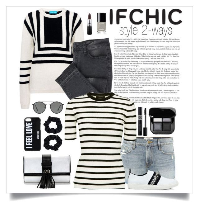 """""""IC346289"""" by nixiey ❤ liked on Polyvore featuring M.i.h Jeans, Frame, Theory, Mother of Pearl, Givenchy, Accessorize, Ray-Ban, Christian Dior, Chanel and MAC Cosmetics"""