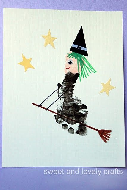 Footprint Witch: Art for the kiddos