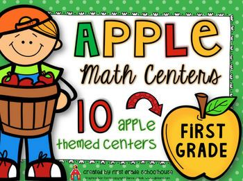 Apple Math Centers First Grade. $ 10 math centers with an apple theme for September/October.