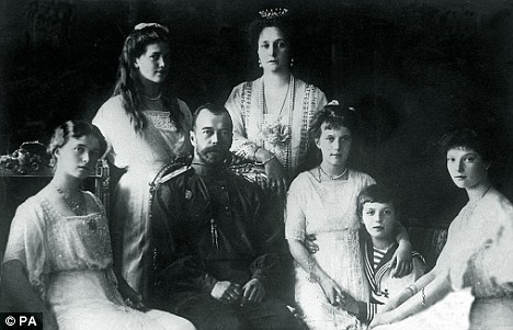 Tsar Nicholas and the rest of the doomed Romanov family...
