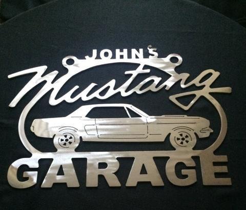 Corvette C4 sign Metal Garage ANY Name On Top of sign Metal Garage Sign