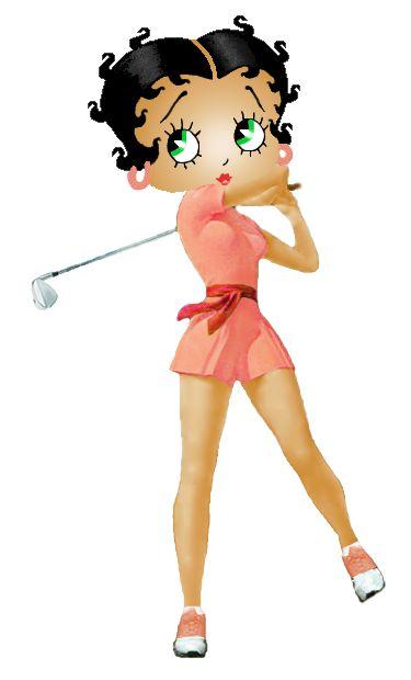 Betty Boop The Golfer