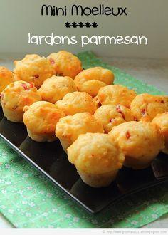 Une petite recette de muffins aux lardons & parmesan qui a l'air délicieuse... Il ne reste plus qu'à trouver le moule à gâteaux pour les faire cuire sur mutum !