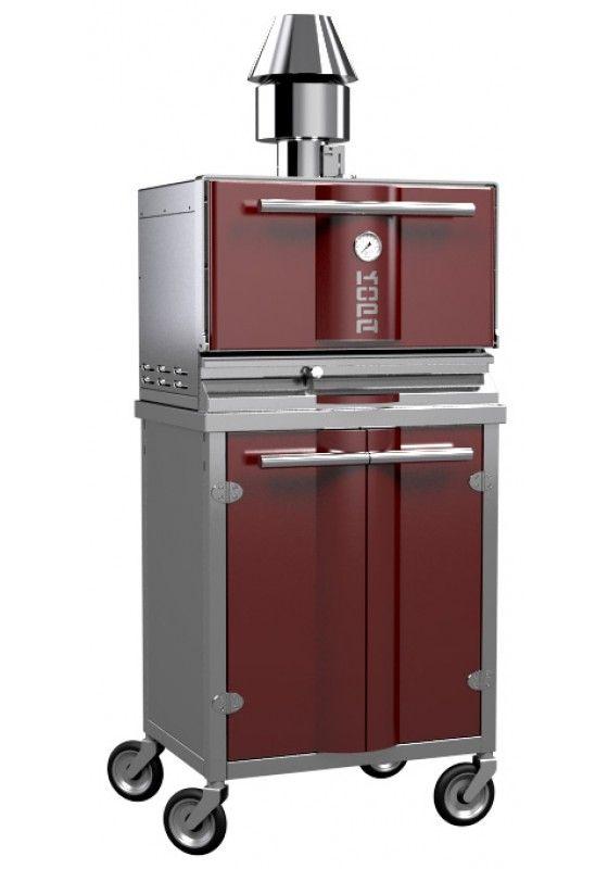 Φούρνοι με κάρβουνο charcoal oven ανοξείδωτης κατασκευής με ντουλάπι και ρόδες φουρνος κάρβουνο από την Smart kitchen shop Σπύρος Σκοπελίτης 6936112276