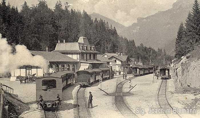 Brünigbahn mit Lok 1007