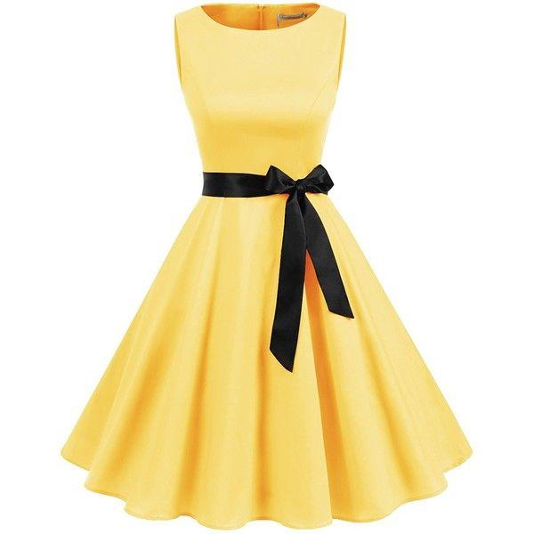 Gardenwed Women's Vintage 1950s Rockabilly Audery Swing Dress... ($23) ❤ liked on Polyvore featuring dresses, beige cocktail dress, vintage dresses, cocktail prom dress, sleeveless swing dress and rockabilly dresses