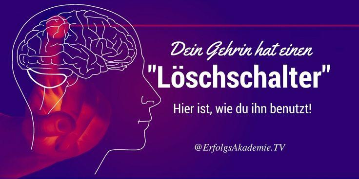 """Dein Gehirn hat eine """"Löschtaste"""". Hier ist wie du sie benutzt #Motivation #Produktivität"""