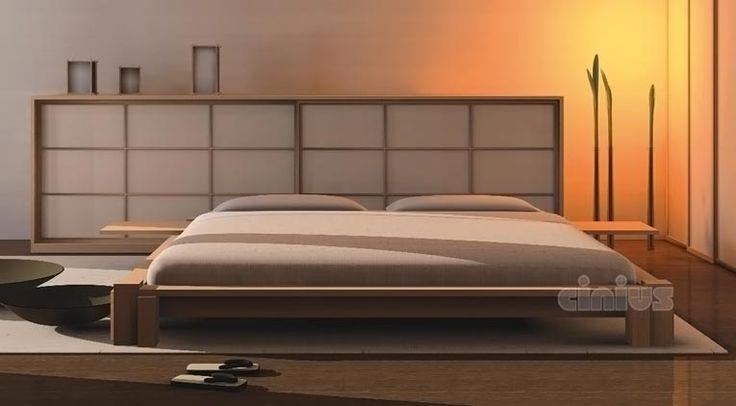 Letto KYOTO, tutto in legno massello lamellare di faggio ad incastro senza parti metalliche (Magnetic Free), Personalizzazione dei piedi letto. comodini kyoto, testata kyoto, testata Futon