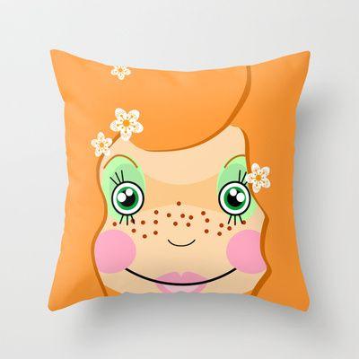 Hippie Girl Throw Pillow by Namia Design - $20.00