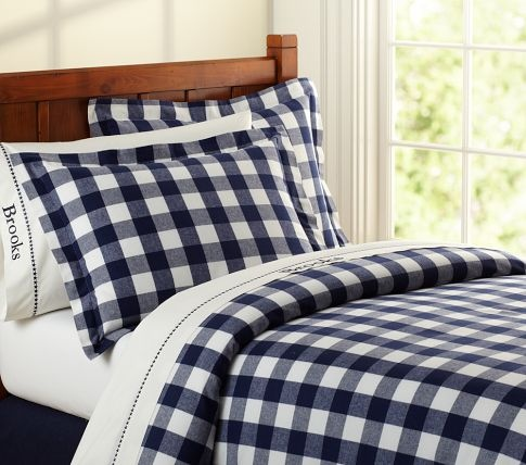 Buffalo Check Flannel Duvet Cover Pottery Barn Kids