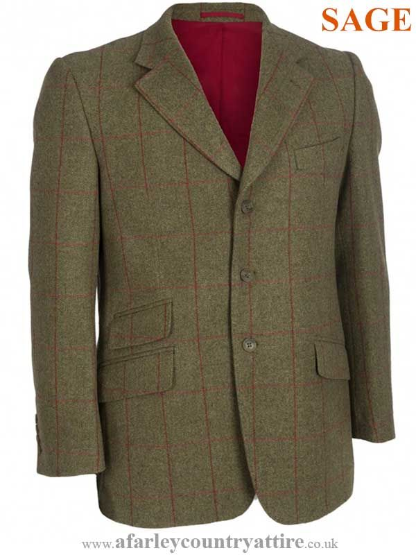 Alan Paine - Compton Blazer - Sage Green Wool Tweed Jacket - Available to  buy online