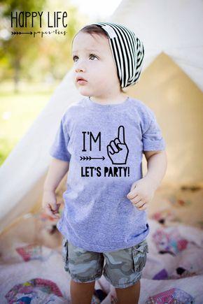 Im One Lets Party – Erster Geburtstag Shirt – Erster Geburtstagskind – 1. Geburtstag – 1. Geburtstagskind – Im One – Im One Shirt – Erster Geburtstag