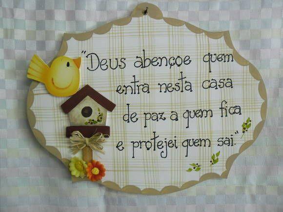 Placa casa | Artesanatos Ingrid Carvalho | 210587 - Elo7