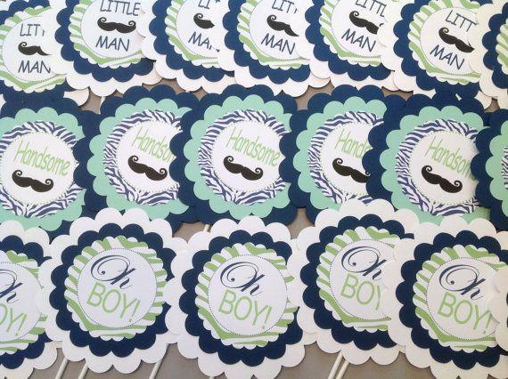 3 Centros de mesa o Cake Toppers Bash por EmeraldCityPaperie