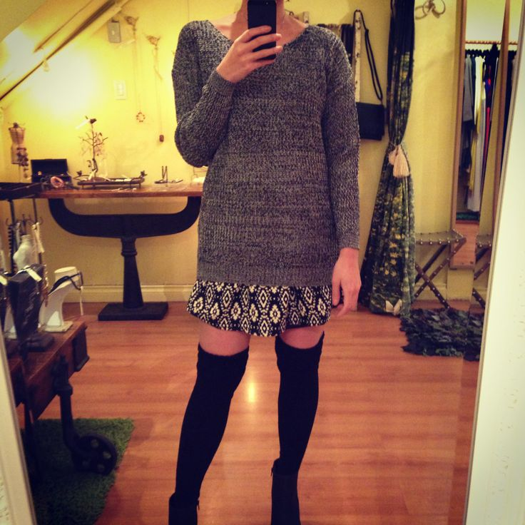 mix grey & white knit
