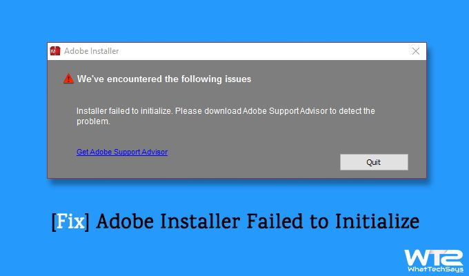 installer failed to initialize adobe cs6