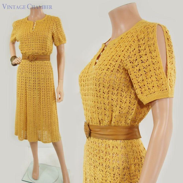 7 besten Vintage Crochet Bilder auf Pinterest   Vintage kleider ...