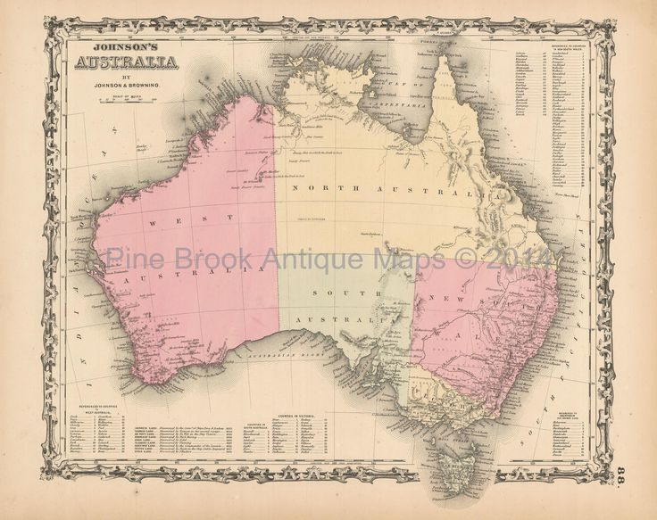 Pine Brook Antique Maps - Australian Continent Antique Map Johnson 1861, $84.99 (https://www.pinebrookmaps.com/australian-continent-antique-map-johnson-1861/)