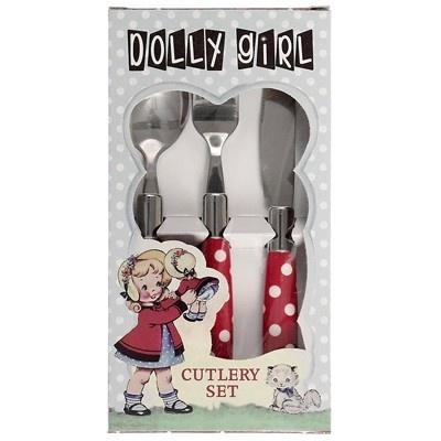 Kinderbestek Rood Polkadot - Dolly Girl