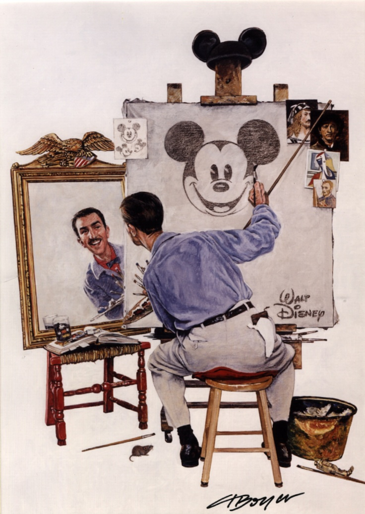 walt disney the birth of a Walt disney developed mickey mouse on a train ride home with his wife from new york in 1928 originally, walt considered naming his new character mortimer mouse lillian, however, thought of mickey mouse.