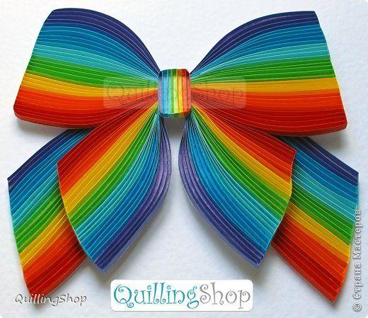 Квиллинг бантик (техника контурный квиллинг), автор: Власова Ольга, компания QuillingShop™