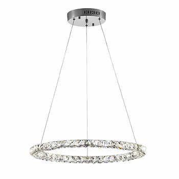 Bazz - Single Ring Crystal LED Pendant