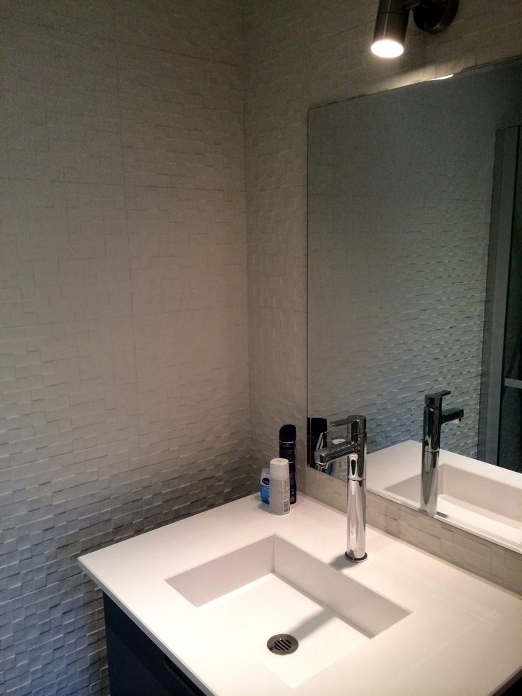 Salle de bain carrelage en relief PORCELANOSA