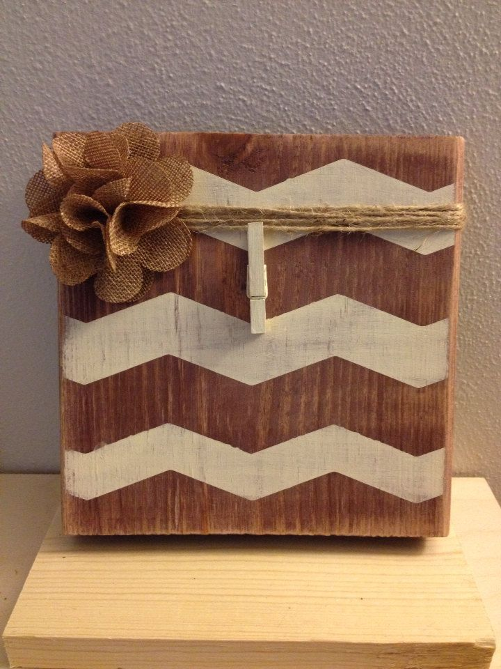 Distress Painted Brown and Antique White Wood by DefinitelyDenise