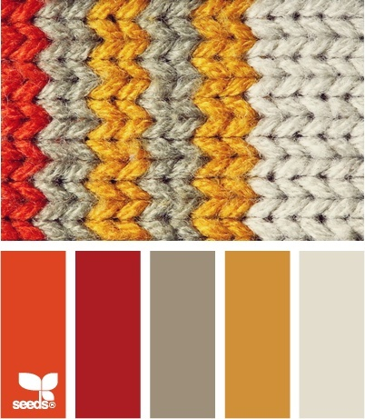Orange Red Gold Gray Color Combo Ideas For Painting