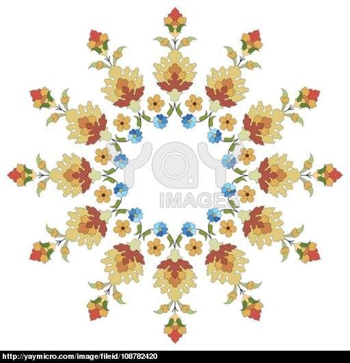 artistic ottoman pattern series thirty six