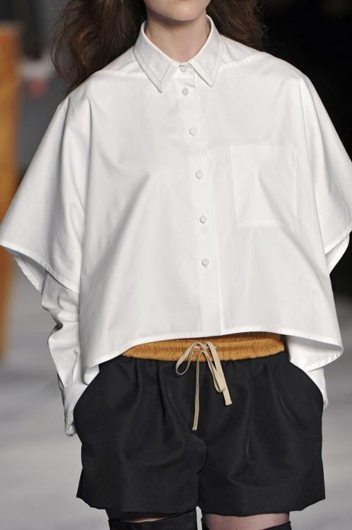 oversized white w shorts