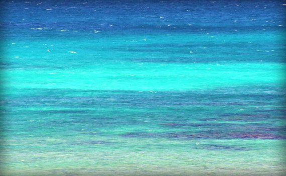 Beach Cottage Art - Turquoise Sea Photography - Beach Art Print - Blue Ocean Waves - Beach Home Decor