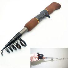 Hot sale Portable Carbon Fiber Telescope Fishing Rod Travel Sea Rock Pole Mini Telescopic Fishing Pole Fiberglass Reel Lure