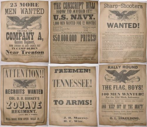 Set of 6 Civil War Recruiting Posters Sharpshooters Zouave Tennessee NJ - Visit to grab an amazing super hero shirt now on sale!
