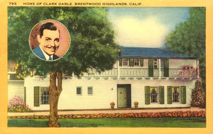 Old Movie Star Homes Home Of Clark Gable Brentwood