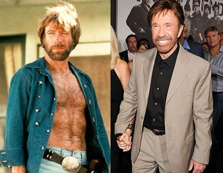 # Seventy two year old Chuck Norris looks pretty damn good for his age, and in the 80s he was at the height of his career with movies like Lone Wolf McQuade proving his box office bankability. He has been acting steadily over his career, and hit the big screen recently in the Expendables 2.