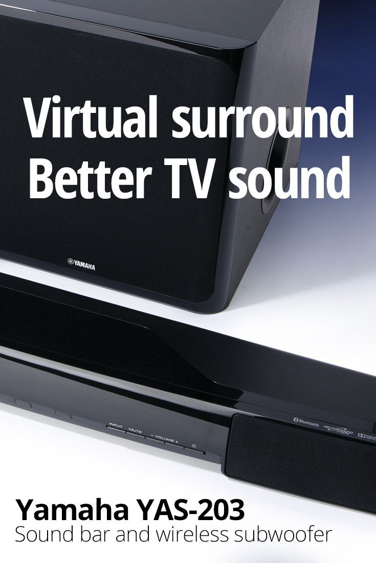 Yamaha YAS-203 Powered home theater sound bar with wireless subwoofer and Bluetooth®