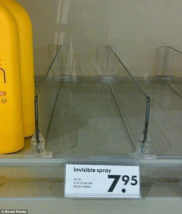 A mysterious 'Invisible Spray' on sale really did appear to be invisible after the shop ra...