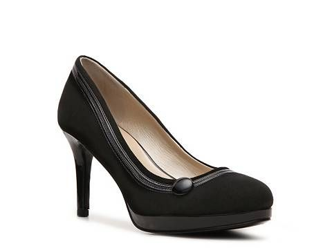 Bandolino Alexa Platform Pump | DSW | Plain black pumps medium heel