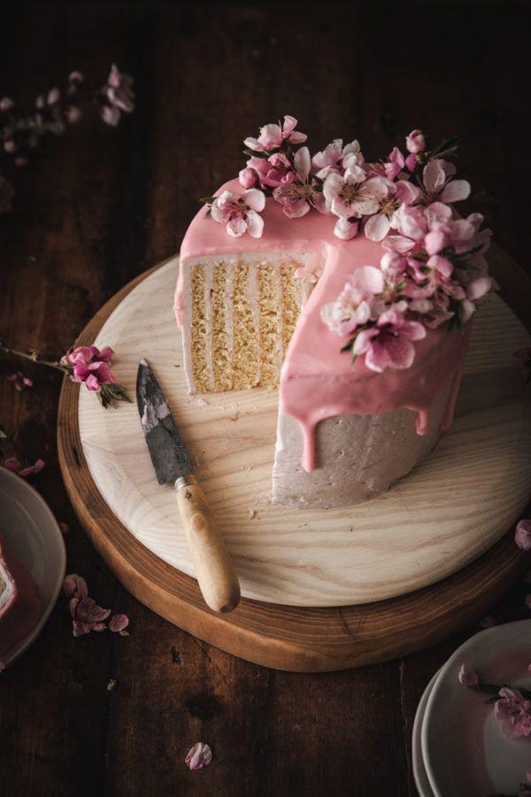 Lemon Vertical Roll Cake Rhubarb Rose Frosting The Kitchen Mccabe Recipe Roll Cake Cake Cupcake Cakes