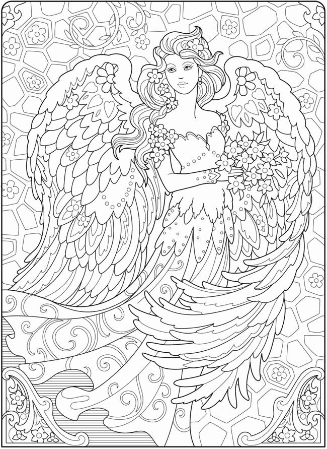 Creative Haven Coloring Books For Adults Beautiful Wel E To Dover Publications Ch Beautiful Angels Fairy Coloring Pages Angel Coloring Pages Coloring Books