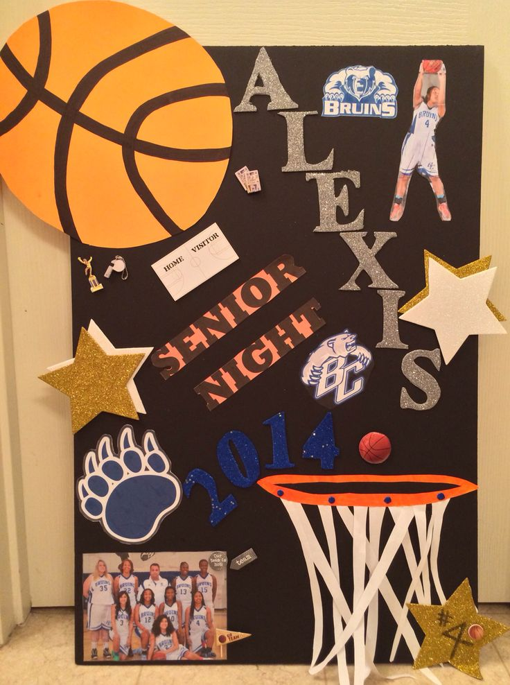 Senior Night Poster Bear Creek High School Bruins  Lady Bruins Girls Basketball