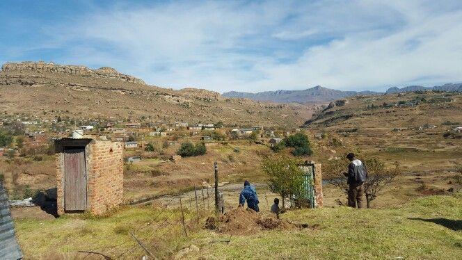 Someone's backyard view in Qwaqwa, Eastern Free State